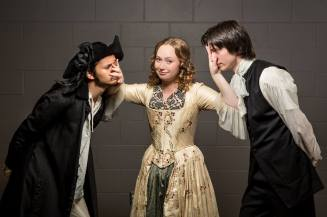 """Melibea/Isabell/Hippolyta in Tony Kushner's """"The Illusion."""" (TWU) Photo by Jef Gibbons Creative."""