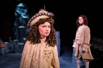 """As Melibea/Isabelle/Hippolyta in Tony Kushner's """"The Illusion"""" (TWU 2014). Photocredit to http://www.christopherdavidgauthier.com"""