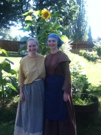 In costume at Fort Langley National Historic Site.