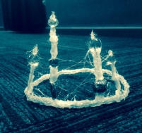 White Witch crown for Taproot Theatre Acting Studio.