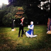 """Measure for Measure"" (Backyard Bard via Greenstage; dir. by Erin Day 2019)."